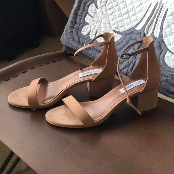 065a0431f30 Steve Madden Nude Low Heel sandal Ankle Strap